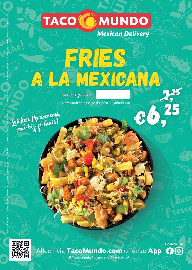Fries a la Mexicana met korting!