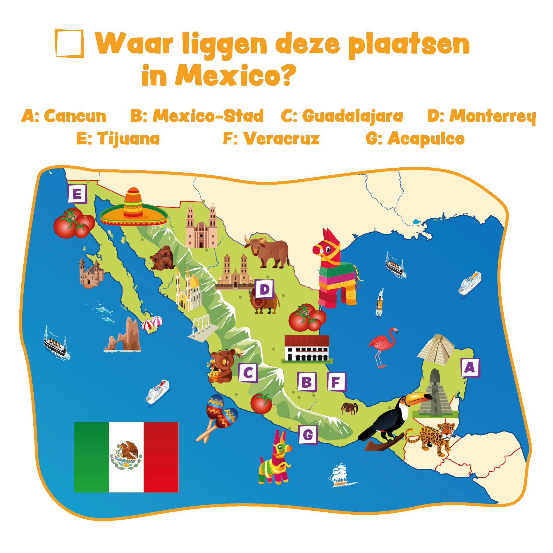 Plaatsen in Mexico