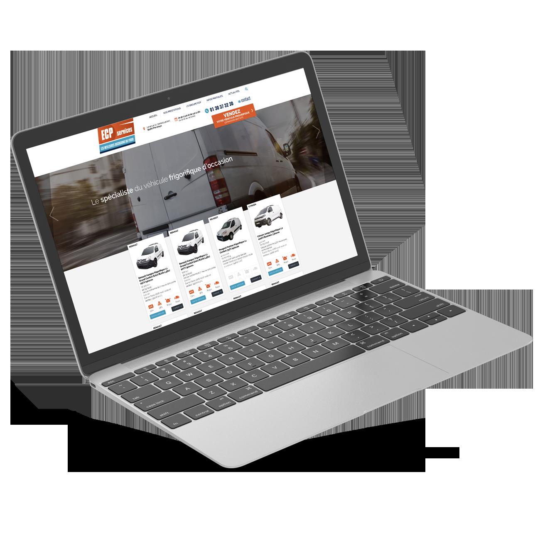 Site internet ECP Services - page accueil