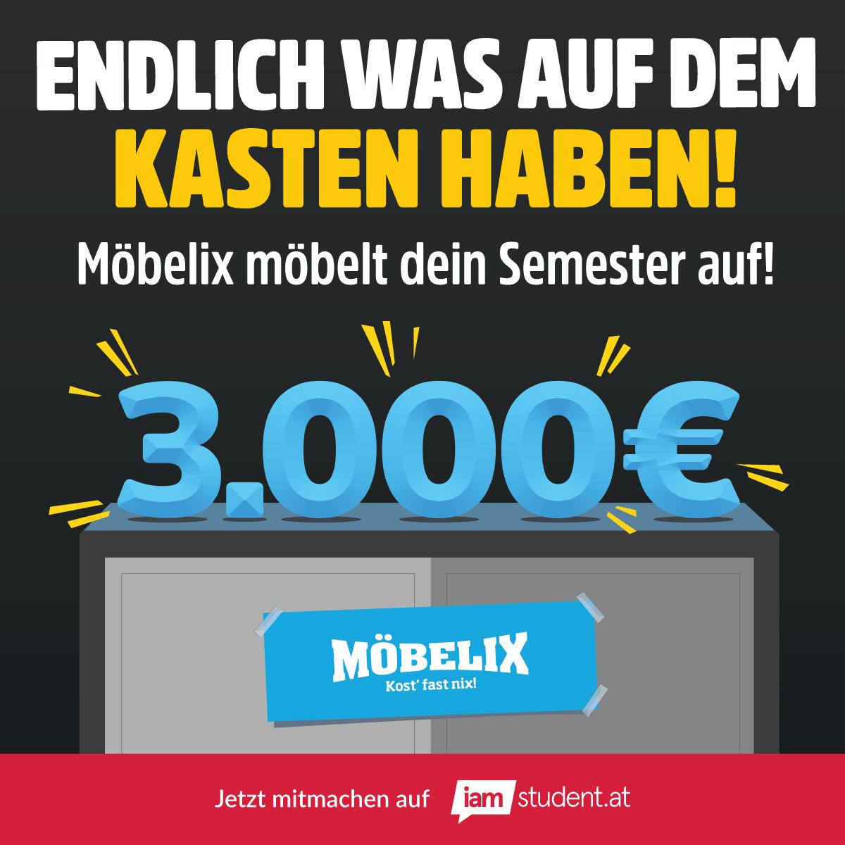 3.000€ Möbelix Gutscheine gewinnen