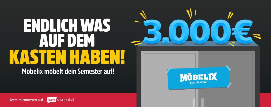 Das große Semesterstart-Gewinnspiel von Möbelix ist zurück!