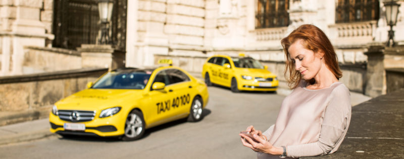 Taxi 40100 bringt dich an dein Ziel