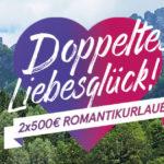Gewinne einen Romantikurlaub im Wert von 500€ zum Valentinstag!