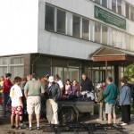Családi kerékpártúra Zoboralján – Elhagyjuk a szállást (foto: )