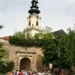 Családi kerékpártúra Zoboralján – A vár bejárata (foto: )