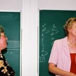 Zenepedagógiai konferencia – Süttő Mónika népdalénekes és Józsa Mónika karnagy (foto: Horvátha Géza)