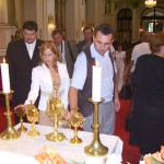 Szent László tisztelőinek találkozója – Nyitra – 2008. júl. 25. – Balra Balkó Róbert Kolon polgármestere (foto: Balkó Gábor)