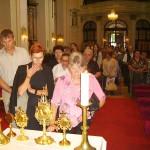 Szent László tisztelőinek találkozója – Nyitra – 2008. júl. 25. – Balra Masaryk Gyula a koloni Alapiskola igazgatója (foto: Balkó Gábor)