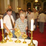 Szent László tisztelőinek találkozója – Nyitra – 2008. júl. 25. – Baloldalt Tóth Attila – Fecske Nagycsaládosok Egyesülete (foto: Balkó Gábor)