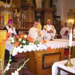 Szent László tisztelőinek találkozója – Nyitra – 2008. júl. 25. – Balról: Dr. Balázs Zoltán, György Ferenc, Károly atya Verebélyről (foto: Balkó Gábor)
