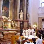 Szent László tisztelőinek találkozója – Nyitra – 2008. júl. 25. – Szent László templom – Szent László oltárképe (foto: Balkó Gábor)