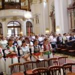 Szent László tisztelőinek találkozója – Nyitra – 2008. júl. 25. – Szent László tisztelői – népviseletben a Kolonyi Gyöngykoszoró (foto: Balkó Gábor)