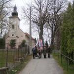 Feltámadási menet Zoboralján – 2008 – a következő állomás Pográny (foto: Szalay Gábor)