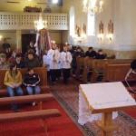 Feltámadási menet Zoboralján – 2008 – Bevonulás a kereszttel (foto: Szalay Gábor)