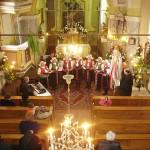 Feltámadási menet Zoboralján – 2008 – A csitári templom a kórusról (foto: Kisucky Pál)
