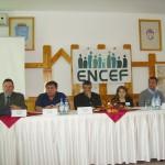 Tudományos konferencia – Balról: Vetési László, Maga Ferenc, Kalapis Stoján, Máté Krisztína, Jenei Károly (foto: Balkó Gábor)
