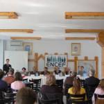 Tudományos konferencia – A konferenciát megnyitja: dr. Adamov Dávid, a Híd Európáért Nemzetiségi Civil Egyeztető Fórum elnöke (foto: ENCEF)
