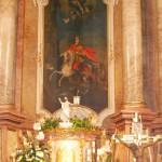 Feltámadási Menet – 2010 – mise/áldozás – Az oltárképen Szent László lovagkirály (foto: Maga Ferenc)