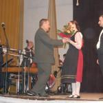 Magyarnak maradni – Púchovszky László polgármester köszönete az Ölveczky házaspárnak és a nagykérieknek (foto: Balkó Gábor)