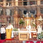 Feltámadási menet 2011 – Nyitra – szentmise – Ďurčo Zoltán magyar püspöki helynök (foto: Maga Ferenc)