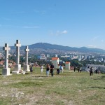 Nagyboldogasszony búcsú a nyitrai Kálvárián – keresztút – Nyitra – Zobor a Kálváriáról (foto: Balkó Gábor)