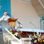 Nagyboldogasszony búcsú a nyitrai Kálvárián – Mons. Ďurčo Zoltán magyar püspöki helynök (foto: Balkó Gábor)