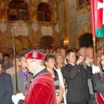 Szent László emlékmise 2011 – Nyitra – kivonulás – Magyar Királyi Szent László Lovagrend (foto: Balkó Gábor)
