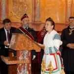 Szent László emlékmise 2011 – Nyitra – kitüntetések – Maga Marianna köszönti a vendégeket (foto: Balkó Gábor)