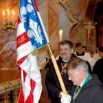 Szent László emlékmise 2011 – Nyitra – bevonulás – Balra Dr. Tóthpál Tamás a Szent György Lovagrend priorja (foto: Balkó Gábor)