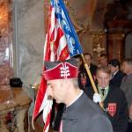 Szent László emlékmise 2011 – Nyitra – bevonulás – Zászlóval a Szent György Lovagrend (foto: Balkó Gábor)