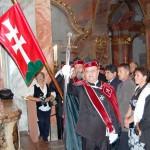 Szent László emlékmise 2011 – Nyitra – bevonulás – Dr. Nagy László rendi kormányzó és a Szent László Lovagrend (foto: Balkó Gábor)