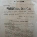 Kiállítás – 100 éves a Nyitrai református Templom – Meghívó a templomszentelésre (foto: Balkó Gábor)