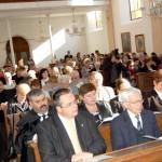 100 éves a Nyitrai Református Templom – Hálaadó istentisztelet, elül balról Balogh Csaba nagykövet és László Béla professzor, a nyitrai gyülekezet gondnoka (foto: Balkó Gábor)
