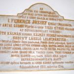 100 éves a Nyitrai Református Templom – felszentelési emléktábla (foto: Balkó Gábor)