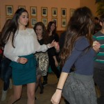 Családi Jelmezes batyubál – A plébánia farsangi jelmezes batyubálja – Belga tánc<br>farsangi batyubál, Kolon, Zoboralja, Zobor-vidék, Nyitra-vidék, plébánia bál (foto: Balkó Gábor)