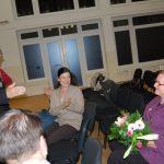 V. Nagy János kiállításának megnyitója – V.Nagy jános, Bencz Gita és a művész felesége (foto: Balkó Gábor)