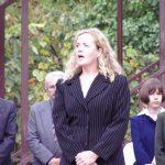 Kopjafaavatás az Aradi vértanúk emlékére – Balkó Henrietta (foto: Balkó György)