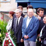 Kopjafaavatás az Aradi vértanúk emlékére – Jobbról: Gál Erzsébet, Zsebi József, Bencz Zoltán, Vörös Gyula (foto: Balkó György)
