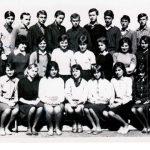 A nyitrai E. Guderna középiskola 2. magyar érettségiző osztálya, 1964-67(foto: Balkó Gábor)