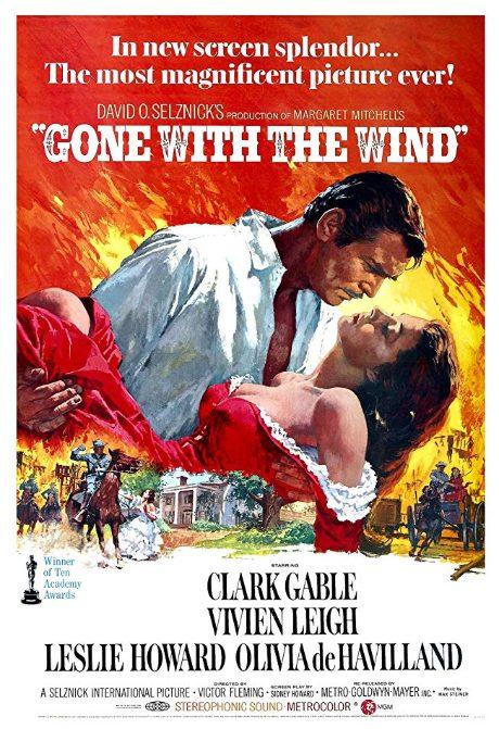 Borta med vinden poster