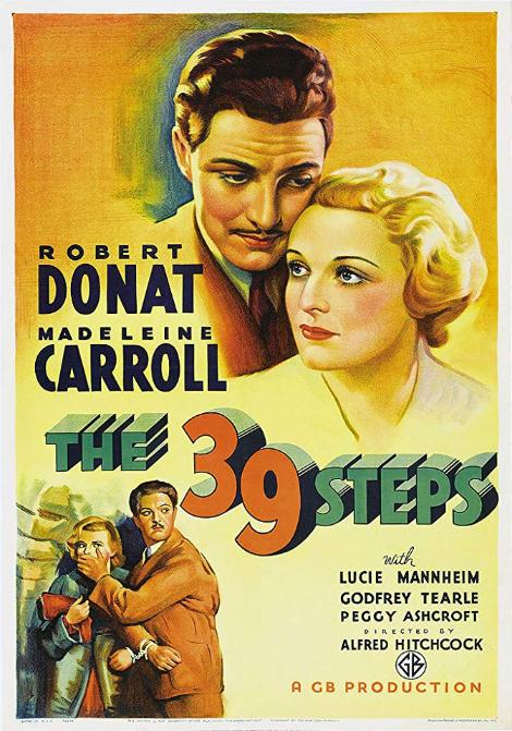 De 39 stegen poster