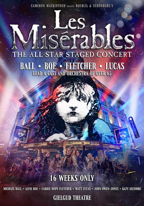 Les Misérables - Konserten poster