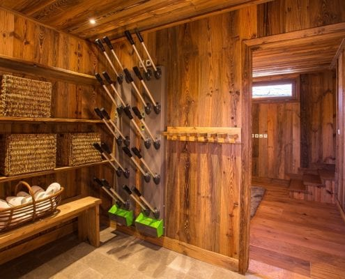 Boot Room Chalet Loup Blanc Courchevel Le Praz