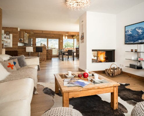 Chalet Pure Courchevel living room