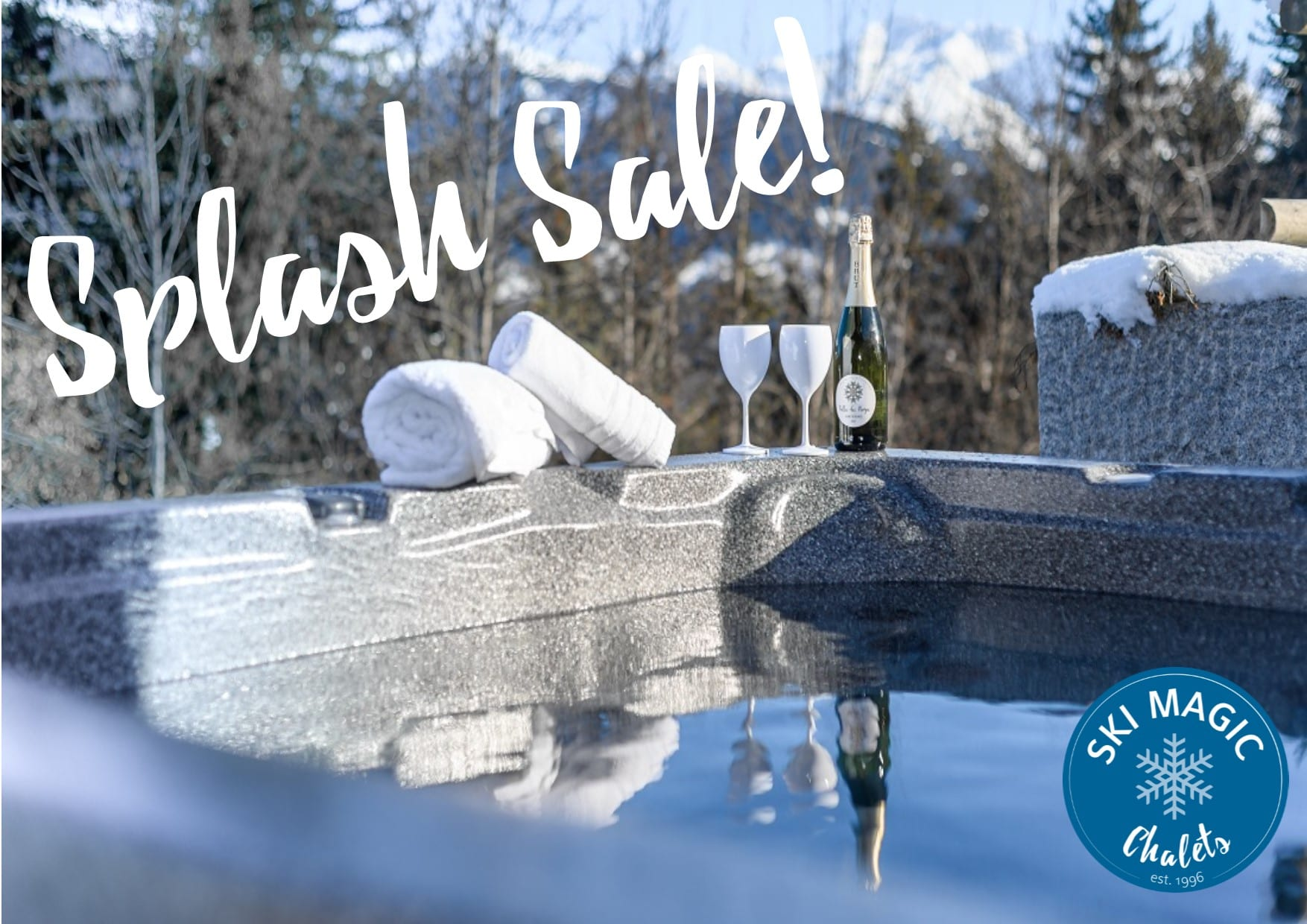 Chalet with hot tub special offer