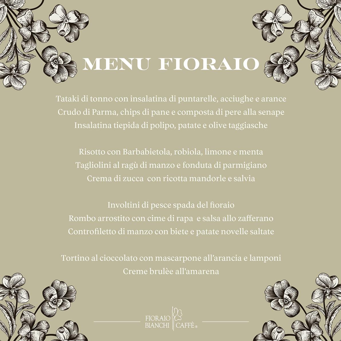 grafiche fioraio menu