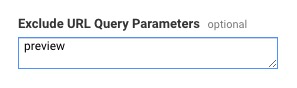 Add url parameter(s) to exclude