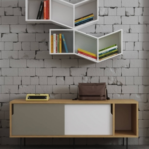 9500.400513 Dann Sideboard Oak with Matte Grey and Pure White (1)-2