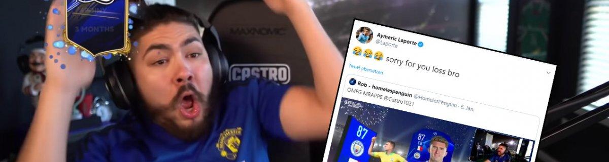 Streamer Castro zieht Laporte und kriegt Feedback
