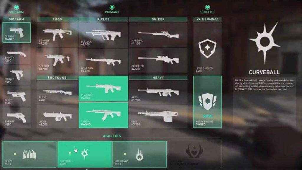 Die Waffen in VALORANT